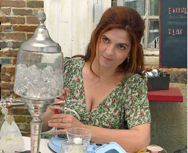 GIRL WITH ABSINTHE FOUNTAIN