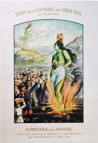 Poster from the 1915 absinthe ban in France