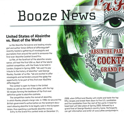 Booze News Article