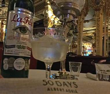 La Fée Absinthe featured at Cafée Royal