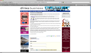\Drinks Business article about Absinthe ban being lifted