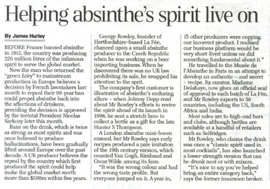 La Fée article from Daily telegraph