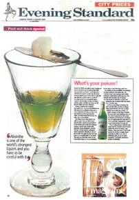 Evening Standard article about La Fée absinthe