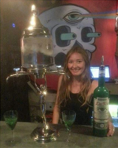 La Fée Absinthe with fountain
