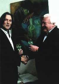 George Rowley with Mr Hills from Hills Absinth