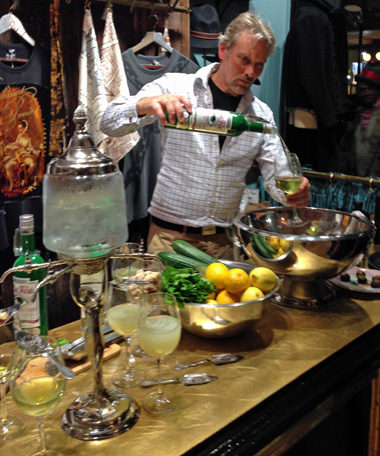 George Rowley making cocktails at Child of the Jago
