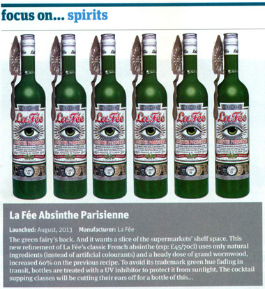 Article from Grocer magazine, regards La Fée absinthe
