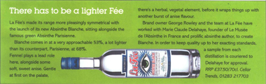 Imbibe article about La Fée Blanche