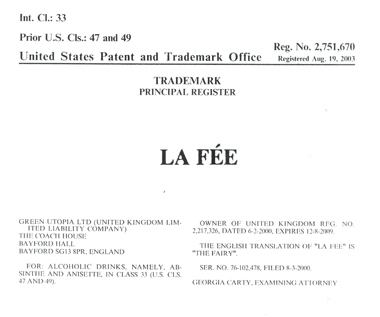La Fée Trademark USA
