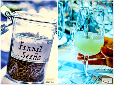 Image of Fennel seeds and a glass of absinthe