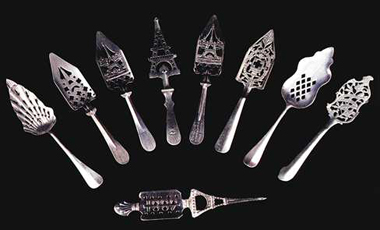 Selection of absinthe spoons