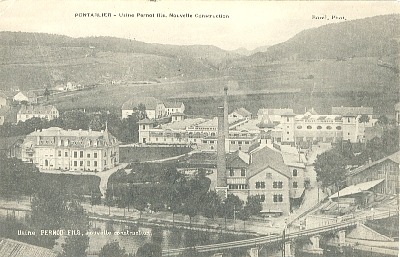 The Pernod Distillery, Pontarlier in it's 1905 heyday