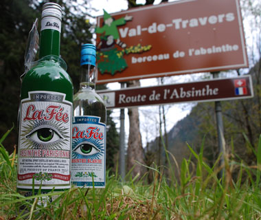 Bottles of La Fée absinthe