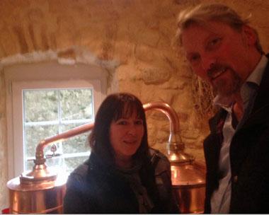 Bovet La Valote Distillery sampling their range and La Fée X•S Suisse with Françoise Gomes-Bovet