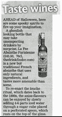 Article about La Fée absinthe in Southern Daily Echo