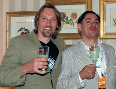 GEORGE rOWLEY AND FRIEND AT tALES OF THE COCKTAIL
