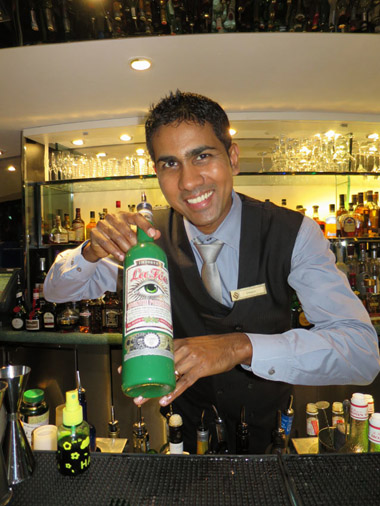 Barman at Skyview bar at Burj al Arab Hotel