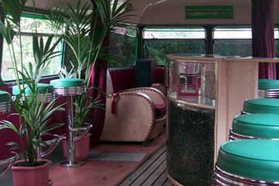 Upstairs of La Fée bus