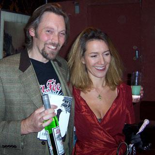 George Rowley with Rowan Pelling