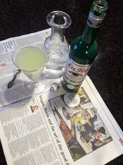 La Fée Parisienne Absinthe Supérieure on cartoon The Times Degas cartoon