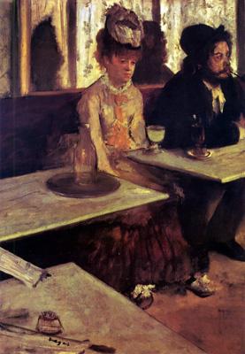 Degas Absinthe drinker