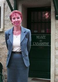 Marie-Claude delahaye outside Absinthe musemn