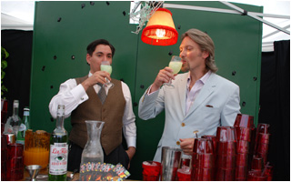 George Rowley and Sasha Petraske enjoying some La Fée Parisienne absinthe