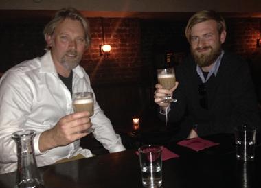 George Rowley and Oscar Rowley drinking absinthe fig sour