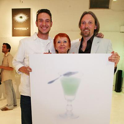George Rowley, Marie-Claude Delahaye at US launch of La Fée 2008