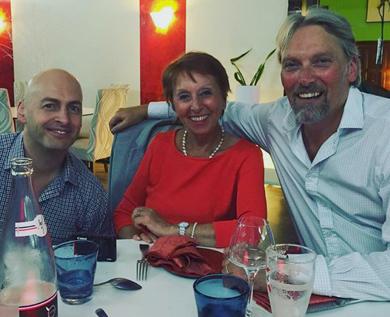 Simon Difford, Marie-Claude Delahaye & George Rowley