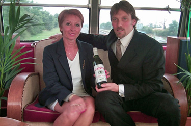 George Rowley and Marie-Claude Delahaye on La Fée Bus