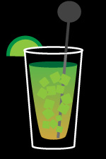 Bohemian mule cocktail
