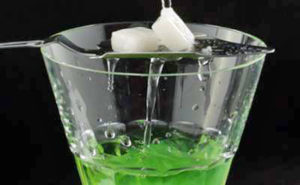 La Fée Absinthe with spoon and sugar