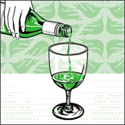 Parisienne absinthe being poured into a glass