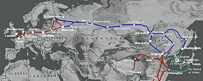 Trans Siberian Express route