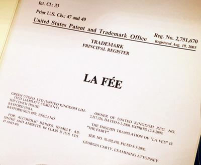USA trademark for La Fée
