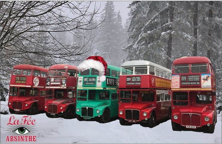 Christmas Lights aboard the La Fée Bus