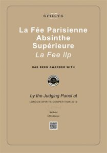 London Spirits Competition 2019 - La Fée Parisienne Superieure Best in Show by Country Category