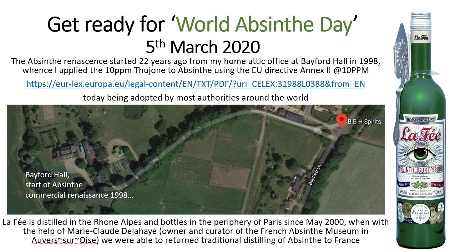 "Get ready for ""World Absinthe Day"" 5th March 2020"